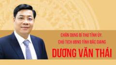 Dương Văn Thái- Bí thư Tỉnh ủy Bắc Giang